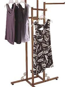 Cobblestone 4-way Boutique Clothing Rack - Straight Arms - STOR-60481