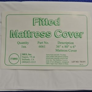 "36 x 80 x 6"" Vinyl Mattress Fitted Cover Proctectors for Hospital Beds (12/Box) - MES-6061"