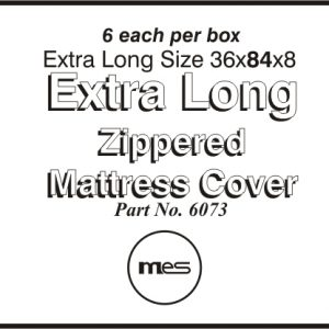 "36 x 84"" x 8"" Vinyl Mattress Extra Long Zippered Cover Proctectors for Hospital Beds (6/Box) - MES-6073"