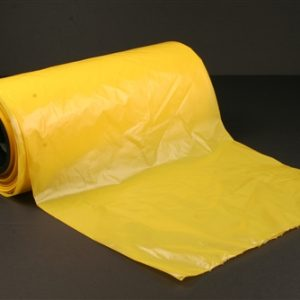 """Yellow Colored Plastic Equipment Bags/Covers for Concentrator, Commode, Walker - 26 x 24 x 32"""" 1.5 Mil (150 Bags/Roll) - MES-7150"""