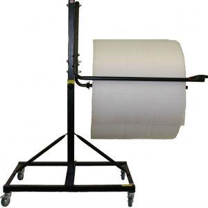 """Bubble Dispenser - Single-Arm Floor Unit w/Casters & Slide Cutter - Fits 36"""" Roll (1 Dispenser) - EP-6250S-36"""
