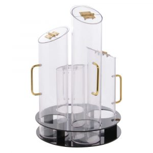Cal-Mil Rotating Cereal Dispenser With Black Base - HUB-81408