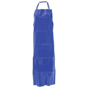 "Endurosaf Vinyl Apron Adjustable Neck Strap Blue 35""W x 50""L (2 Aprons) - HUB-88580"