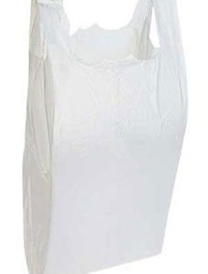 White Plastic T-Shirt Bags - Small (2000 Bags/Case) - STOR-90114