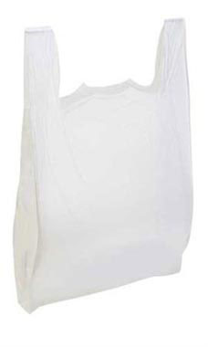 White Plastic T-Shirt Bags - Large (500 Bags/Case) - STOR-90115
