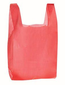 Red Plastic T-Shirt Bags - Medium (1000 Bags/Case) - STOR-90116
