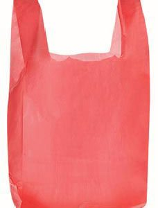 Red Plastic T-Shirt Bags - Small (2000 Bags/Case) - STOR-90118