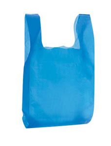 Blue Plastic T-Shirt Bags - Small (2000 Bags/Case) - STOR-90119