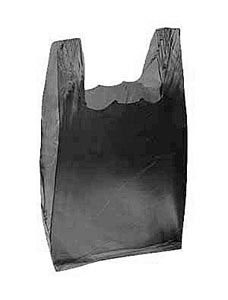 Black Plastic T-Shirt Bags - Small (2000 Bags/Case) - STOR-90141