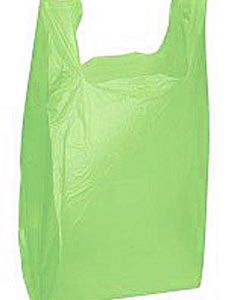 Lime Green Plastic T-Shirt Bags - Medium(1000 Bags/Case) - STOR-90142