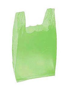 Lime Green Plastic T-Shirt Bags - Small(2000 Bags/Case) - STOR-90143