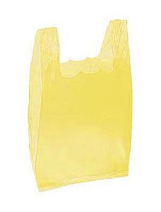 Yellow Plastic T-Shirt Bags - Small (2000 Bags/Case) - STOR-90145