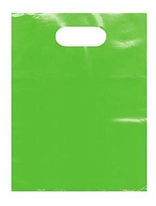 Small Clearly Lime Low Density Merchandise Bag (1000 Bags/Case) - STOR-90440