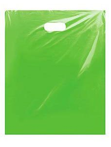 Large Clearly Lime Low Density Merchandise Bag (500 Bags/Case) - STOR-90442