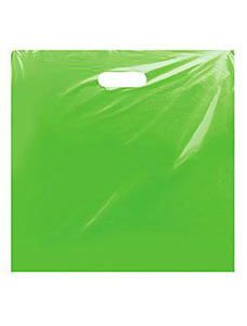 Jumbo Clearly Lime Low Density Merchandise Bag (500 Bags/Case) - STOR-90443