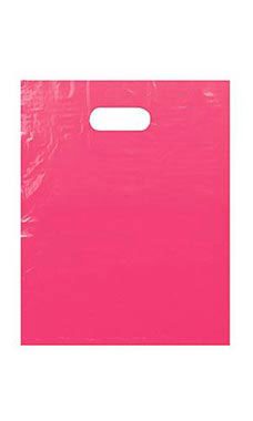Large Pink Low Density Merchandise Bag (500 Bags/Case) - STOR-90446