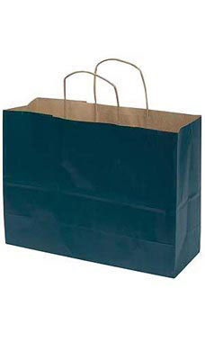 Large Navy Blue Paper Shopping Bag (100 Bags/Case) - STOR-92361