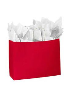 Large Red Glossy Paper Shopper (25 Bags/Case) - STOR-92400