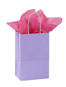 Small Lavender Glossy Paper Shopper (25 Bags/Case) - STOR-92486