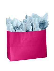 Large Cerise Glossy Paper Shopper (25 Bags/Case) - STOR-92496