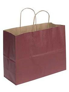 Large Brick Red Paper Shopper (25 Bags/Case) - STOR-92780