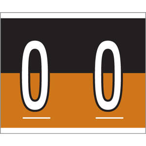 """1-1/2"""" H x 1-1/4"""" W Black/Brown Kardex PSF-139 Compatible 1-1/4"""" Alpha Labels 'O' (500/Roll) - 139-O"""