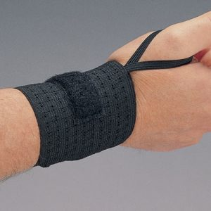 Wrist Support -  Black Rist Rap w/ added Thumb Support (1 Pair) - SAFETY-AL-7211-03