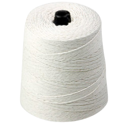 Twine - Poly-Cotton Twine - (White), 8-Ply, 20 lbs Tensile, 2520' Ft/Lb, 2-1/2# Cone (20 Cones)