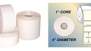 "Desktop Direct Thermal Labels w/Perforations 2-1/4 x 3/4"" (12 Rolls)  - DT4-225-12P"