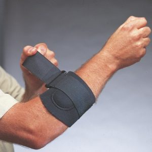 Elbow Support - X-Large Impacto Neoprene Adjustable Strap Tennis Elbow Support - (1 Support) - SAFETY-IO-EL5002-XL