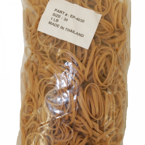 """Industrial Rubber Bands - Standard Size Bands - 2"""" x 1/8"""", Size 30 (Approx. 1150/Bag) (25lbs/Case) (1 Case) - EP-4030"""