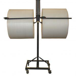 """Bubble Dispenser - Double-Arm Floor Unit w/Casters & Slide Cutter - Fits 36"""" Roll (1 Dispenser) - EP-6250D-36"""