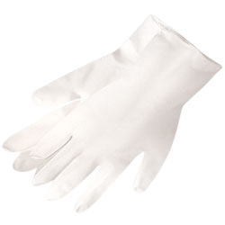 Disposable Gloves - Latex Powder-Free - Industrial Grade - 5 Mil White Latex - Powder-Free (Size: L) (100 Gloves)