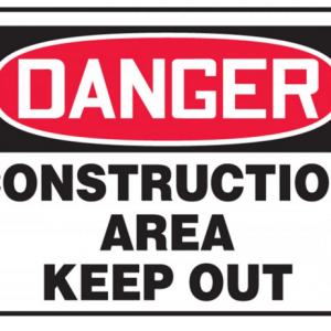 "10 x 14 Accu-Shield Safety Sign -  ""Construction Area Keep Out Danger"" Sign - SAFETY-MA-MADM014XP"