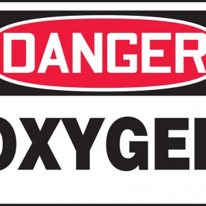 "10 x 14 Accu-Shield Safety Sign -  ""Danger Oxygen"" Sign - SAFETY-MA-MCHL170XP"