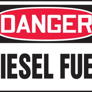 "10 x 14 Accu-Shield Safety Sign -  ""Danger Diesel Fuel"" Sign - SAFETY-MA-MCHL226XP"