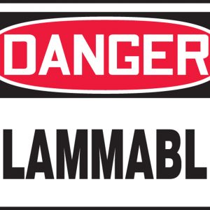 "10 x 14 Aluminum Safety Sign -  ""Danger Flammable"" Sign - SAFETY-MA-MCHL231VA"