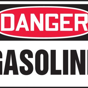 "10 x 14 Accu-Shield Safety Sign -  ""Danger Gasoline"" Sign - SAFETY-MA-MCHL245XP"