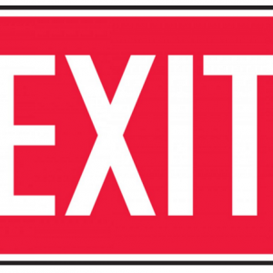 """10 x 14 Adhesive Dura-Vinyl Safety Sign -  """"Exit"""" Sign - SAFETY-MA-MEXT518XV"""