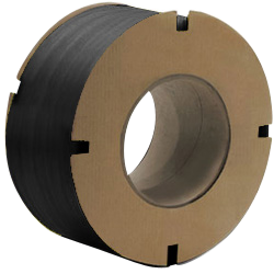 "PolyPRO Strap - Poly Machine Grade (Black) - 8 X 8 Core - 1/2"" X 9900', .024 Thickness, 325 lbs Tensile (1 Coil)"