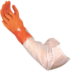 "Atlas Gloves - 26"" Double-Dipped PVC Glove W/Extended PVC Sleeve (Size: M) (12 Pairs of Gloves)"