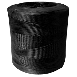 Synthetic Tying Twine - Polypropylene Spiral Wrap (Black) - 250 lbs Tensile, 550' Ft/Lb, 10# tube (4 Spiral Wraps)