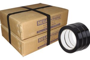 """1/2"""" x 60 yds. Black Strapping Tape (144 Rolls)  - TAP-85-050"""