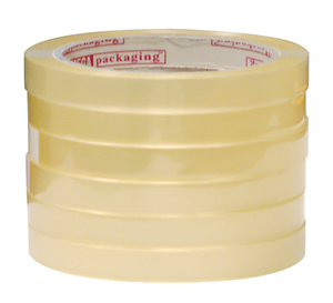 """1/2"""" x 72 yds. Clear Cellophane Stationary Tape (144 Rolls)  - TAP-S1272"""