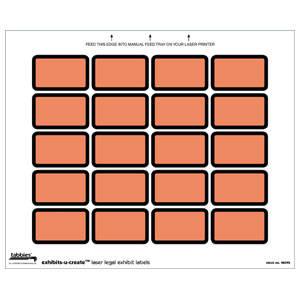 "1-5/8"" W x 1"" H Orange Exhibits-u-Create Blank Label Packs (240/Pack) - 48095"