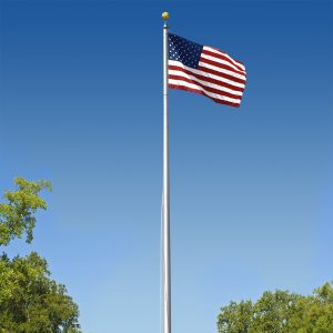 Commercial Grade Sectional 20ft. Flagpole in Satin Finish - FG-CP3P20S