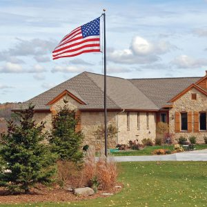 Clear Special Budget Series 30 ft. Flagpole - FG-CPECS30S-CL