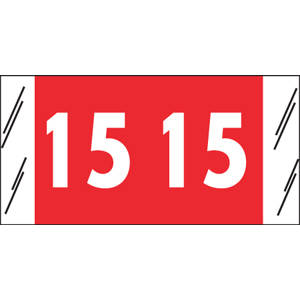 """3/4"""" H x 1-1/2"""" W Red Acme Visible Compatible 3/4"""" Yearcode Labels '15' (1,000/Roll) - 12615"""