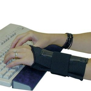 Wrist Support - Large  Double Elastic Straps Wrist Support Ambidextrous - SAFETY-IO-EL42-L