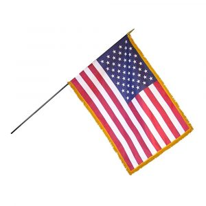12in x 18in US Mounted Fringed Stick Flag (6/Pack) - FG-FLGFUSI1000025801